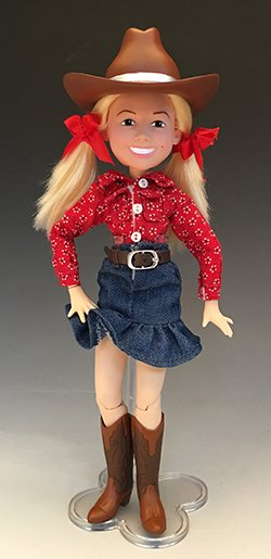 cowgirl doll design - produced by Sonos Product Development