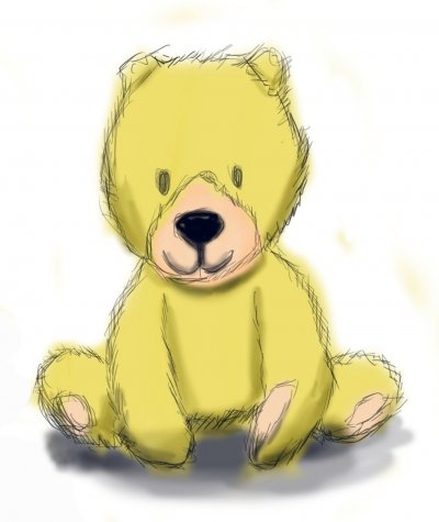 Concept rendering for Teddy Love Plush toy