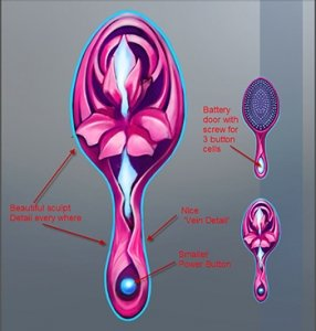 Book and toy gift set example: 1Princess Willow Brush Concept