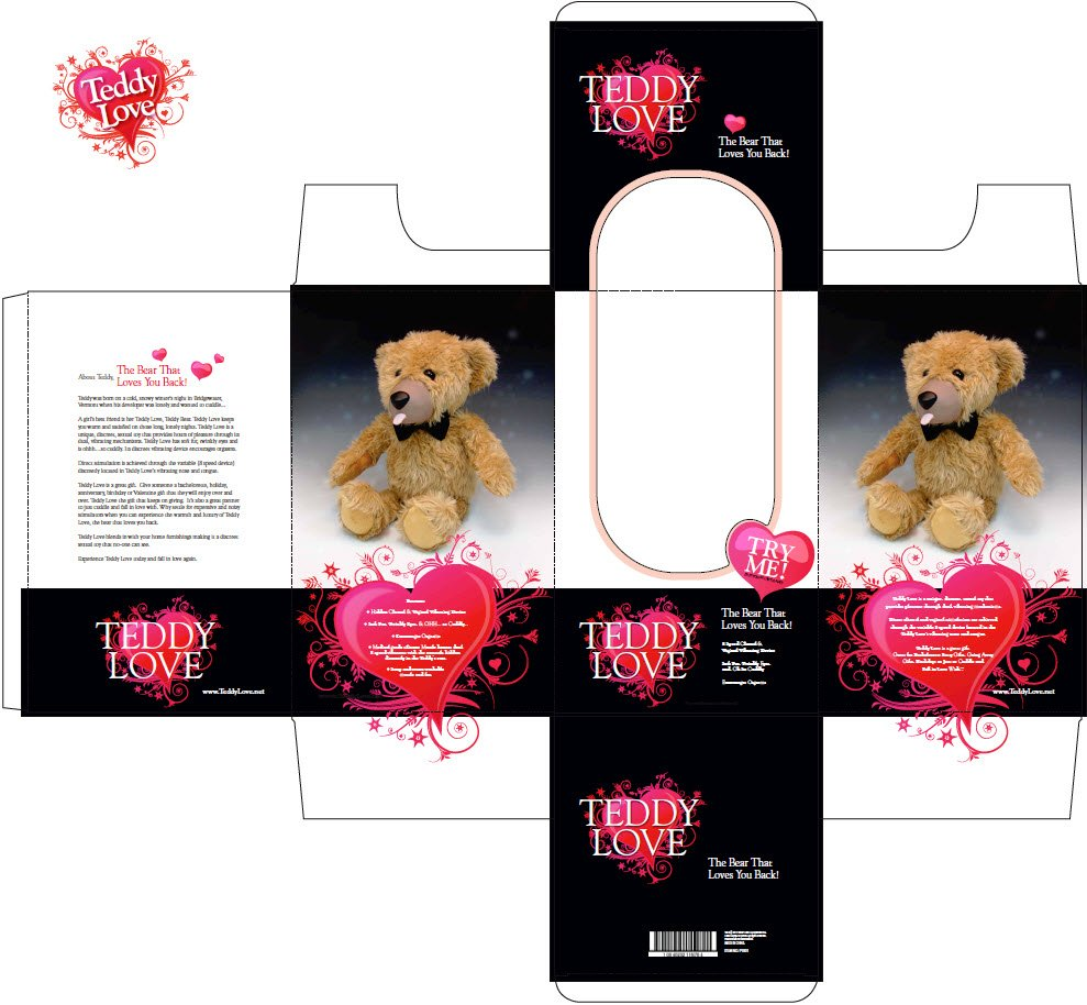 Package Design concepts for Teddy Love
