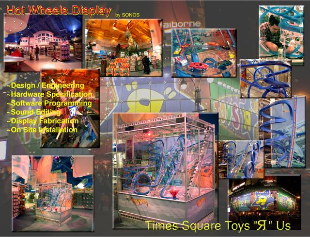 Mattel Toys Hot Wheels Play set built then installed in the Toys R Us in Times Square Manhattan New York City Store