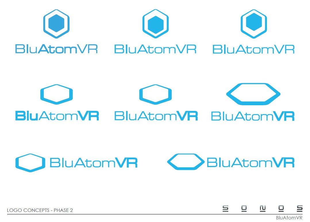 BluAtom Logo Design