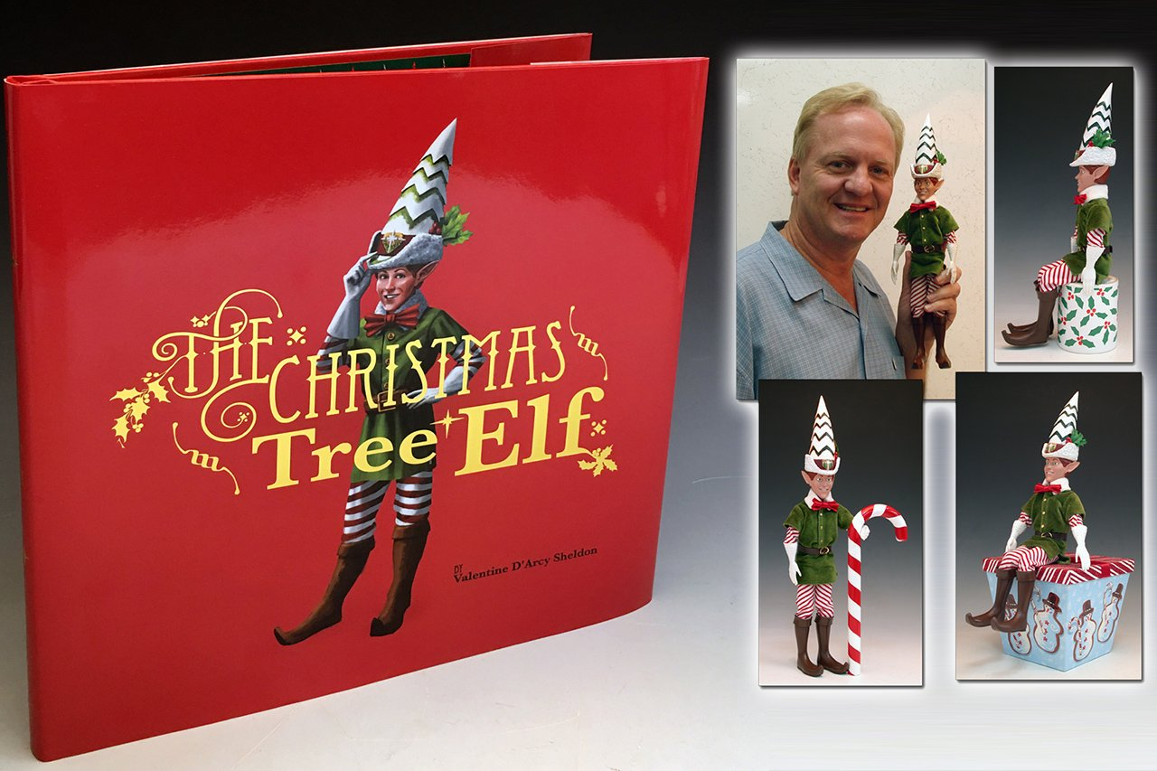 Blink The Elf, book and toy gift-set, the Christmas tree elf, electronic toy design, book printing