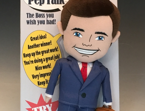 Mr Pep Talk – Plush Toy with talking voice box