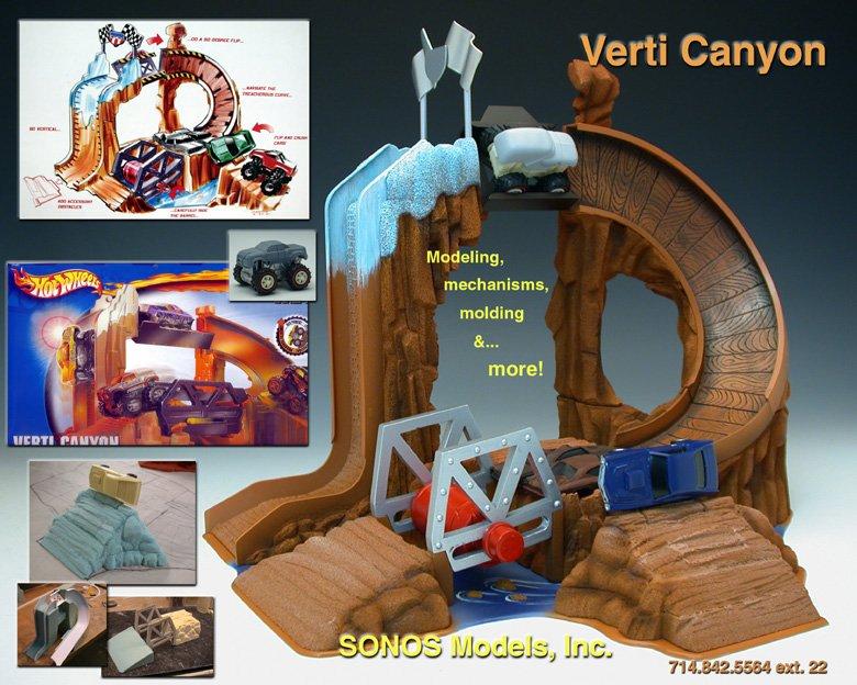 Mattel Toys Verti Canyon Hot Wheels prototype