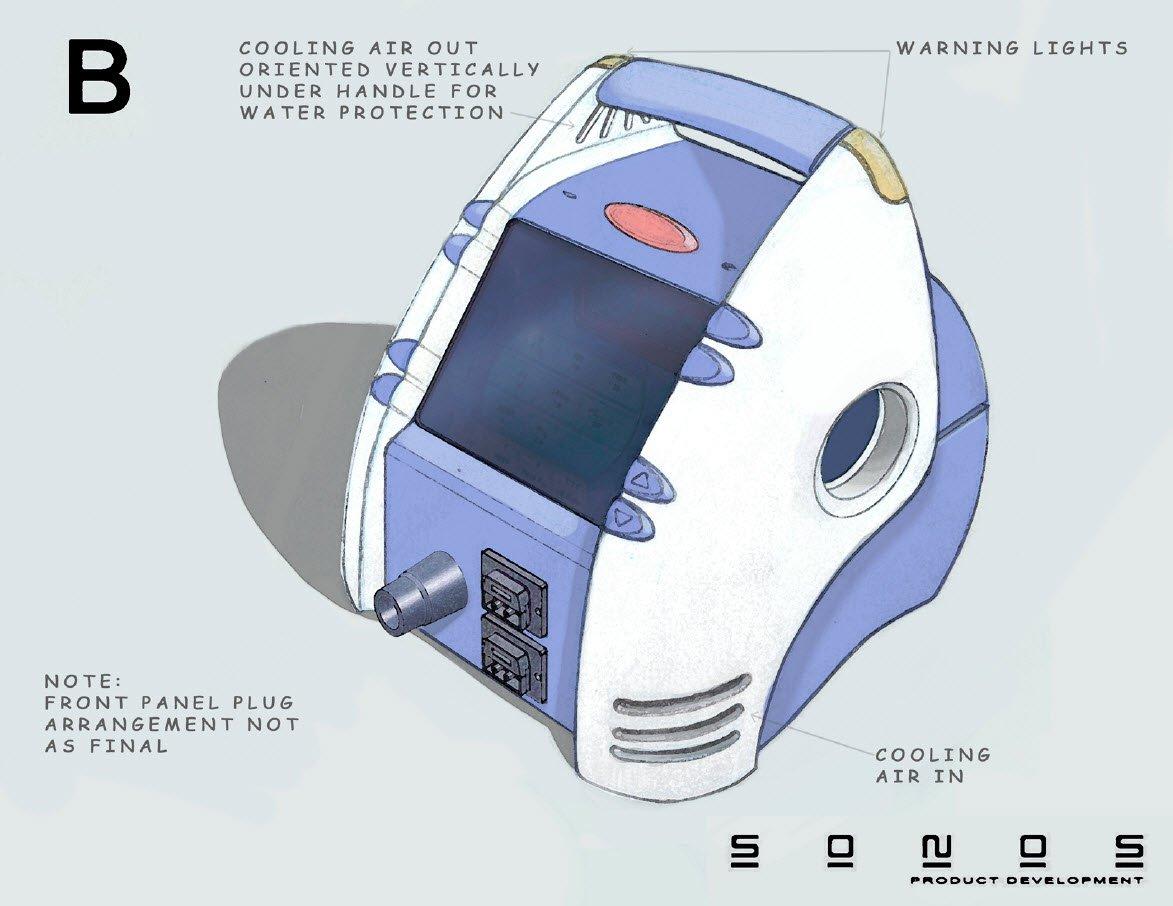 Newport medical respirator device Concept B
