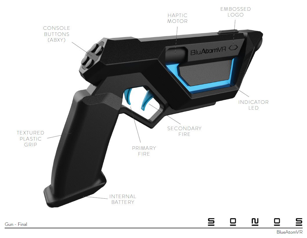 Patented HTC Vive Virtual Reality Emulator Gun – Concept Product Design