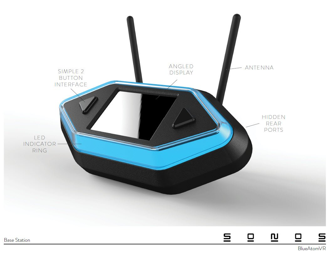 3D CAD rendering-Virtual Reality wireless Hub Base Station