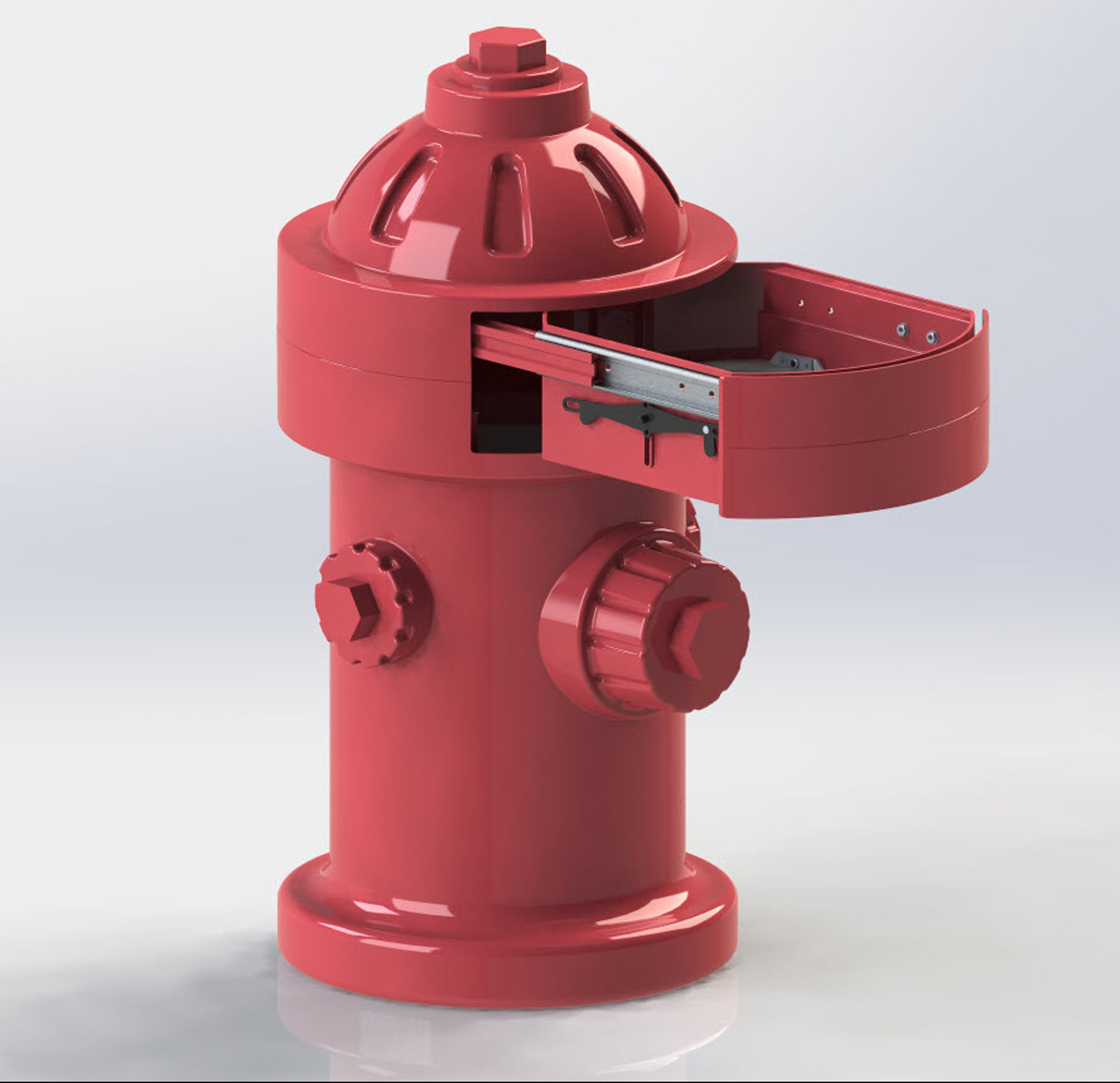 Doggy Fire Hydrant CAD design-3D Rendering