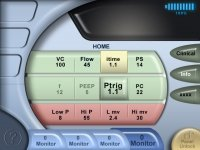 Newport Medical Device user interface graphic design
