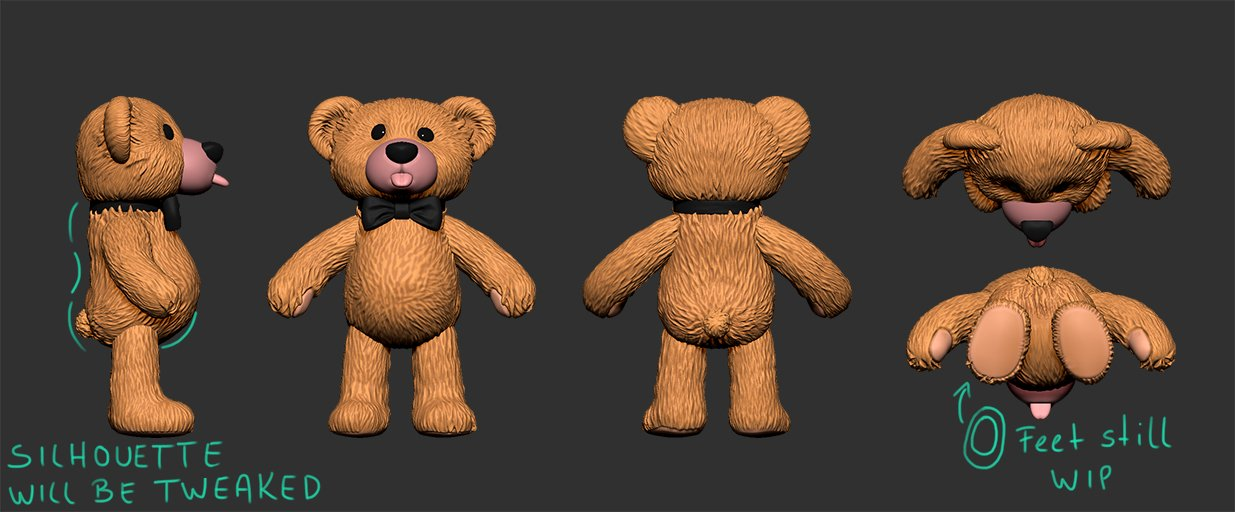 Bear – all 4 sides – WIP