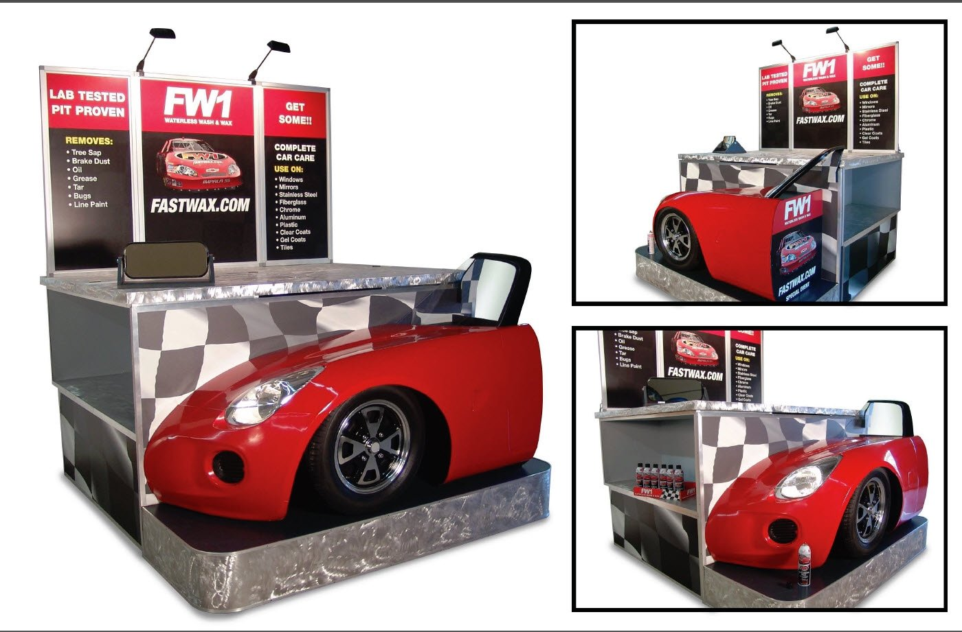Prototype & production of Automotive Wax Tradeshow Display