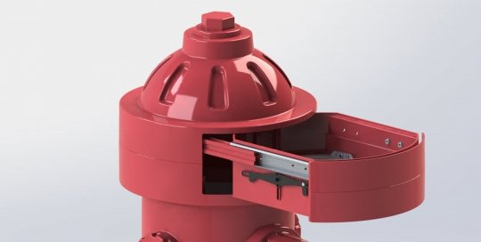 Puppy Fire Hydrant CAD design-3D Rendering
