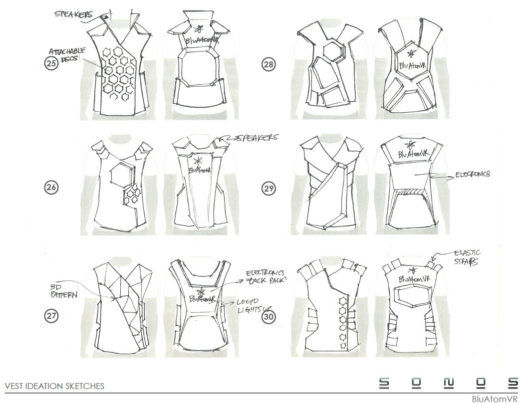 Virtual Reality Concept designs -Controller Vest