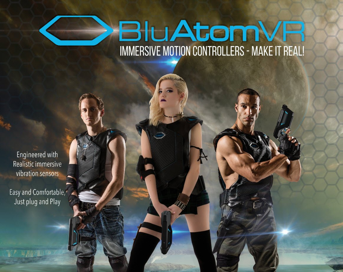 BluAtom Virtual Reality promotional photoshoot and graphic design
