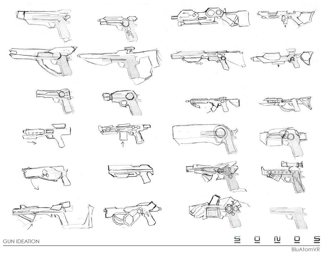Concept designs – VR Guns