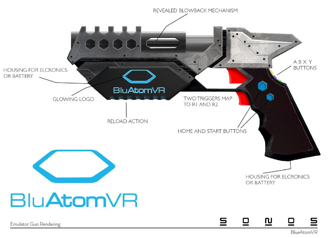VR Emulator Gun – Concept design Sonos Product Development
