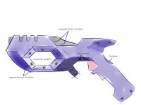 VR-HTC Gun – Concept rendering Sonos