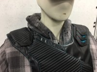 VR Vest prototype on Adam