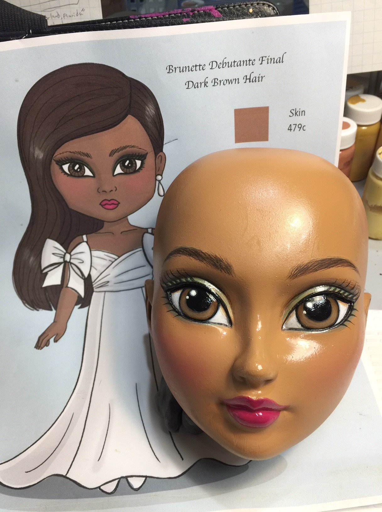 Debutante doll-Final head paint