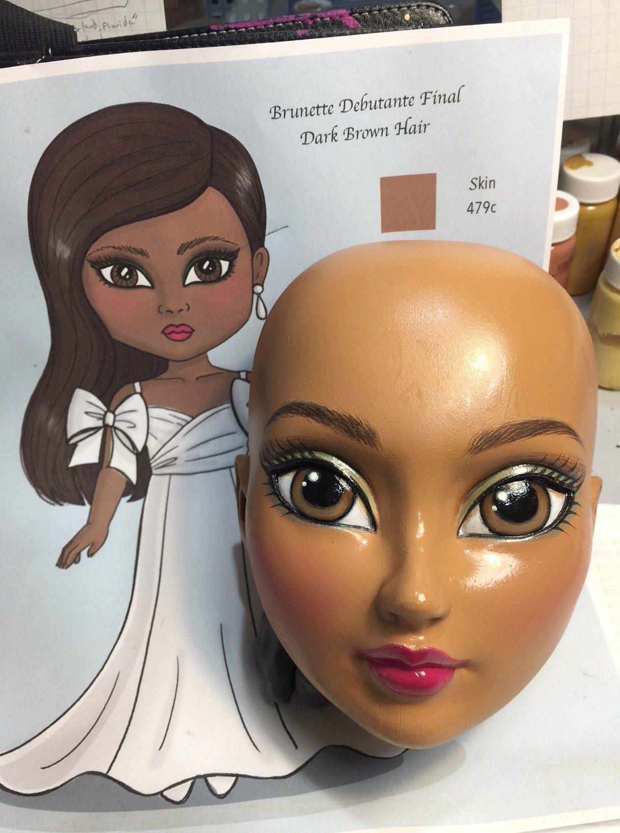 Debutante doll-Final head paint