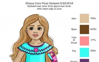 Elliana custom Color Doll Concept Rendering