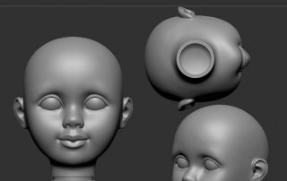 Custom doll Head sculpt with neck like American Girl Dolls