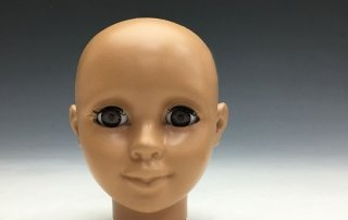 Blinking eyes in custom doll head prototype