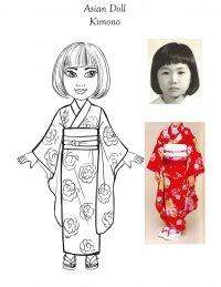 18 inch School girl Doll Design-kimono dress