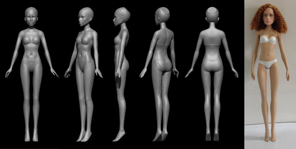 11 inch doll BODY sculpt