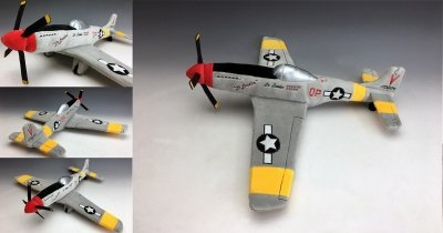 Custom Plush Airplane - P-51 Mustang