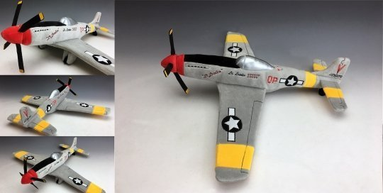 Custom Plush Airplane - P-51 Mustang