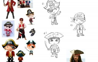 Pirate Toy Sculpting - Concept Drawings