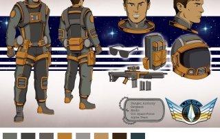 Sgt Anthony Danger Action Figure concept design