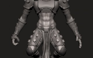 Alien Cleric - Action Figure Digital Sculpt master