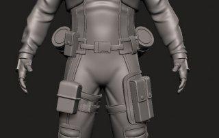 Anthony Danger action figure Sculpting master