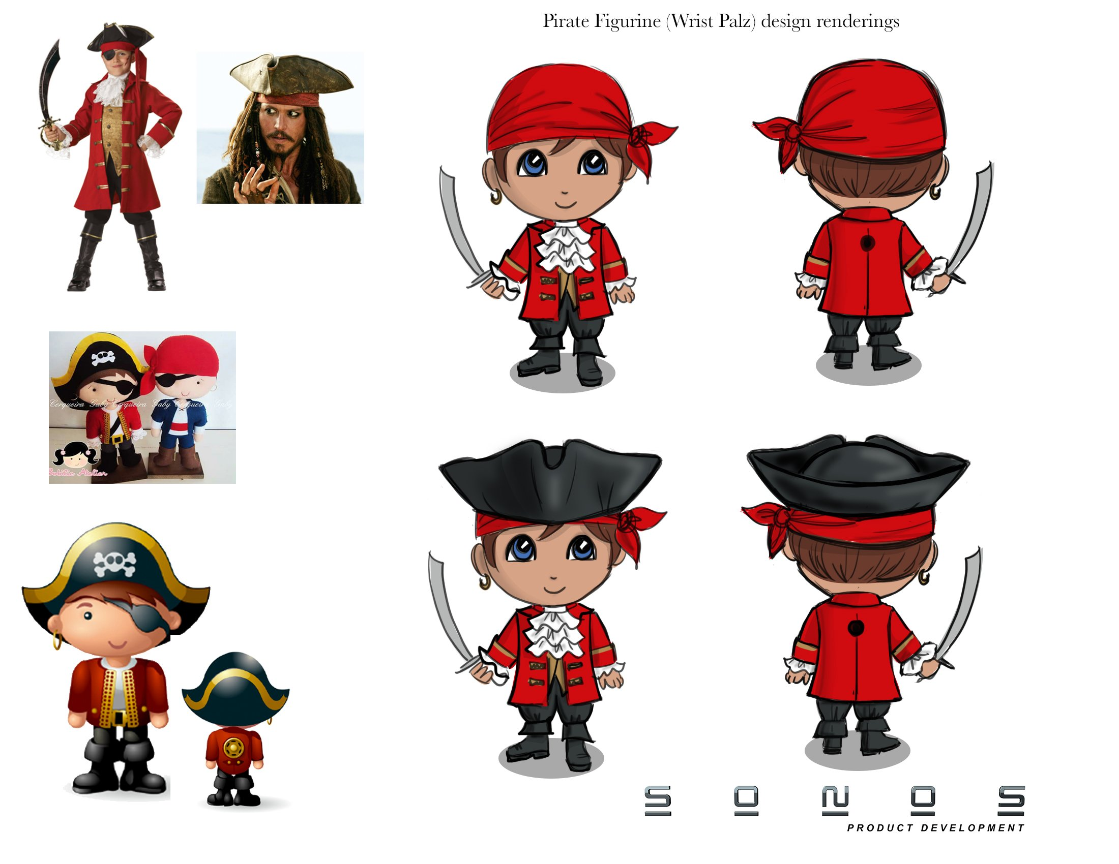 Pirate Toy Concept Design- Pantone Colors