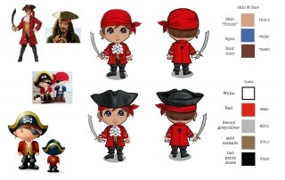 Pirate Toy Sculpt-Pre Productions Specifications