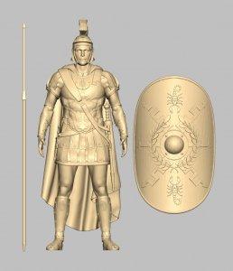 Custom Action Figure Sculpt - Praetorian Guard