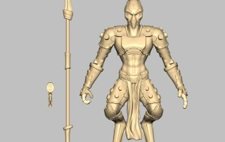 Action Figure prototype sculpt with engineered joints