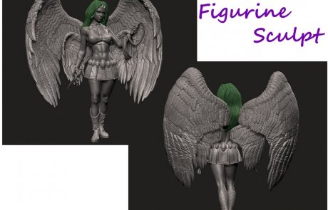 Toy Angel Figurine - Sculpting Master