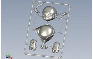 Pirate Toy Injection Molding Sprue