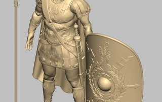 Roman Custom Action Figure Sculpt 3D view
