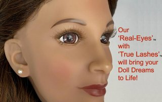 Real Eyes with True Lashes for custom Doll Designs