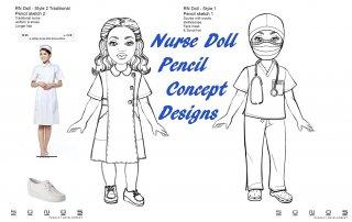 RN Dolls Pencil Concept Designs