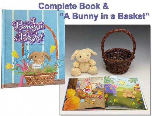 A Bunny In a Basket Plush and Book Set