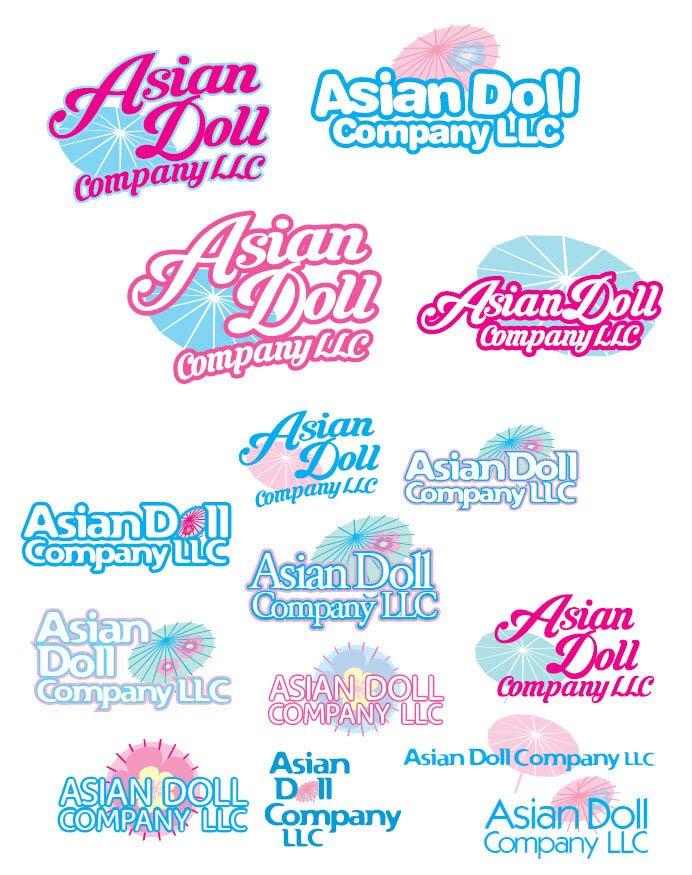 Asian Doll Company Logo Designs