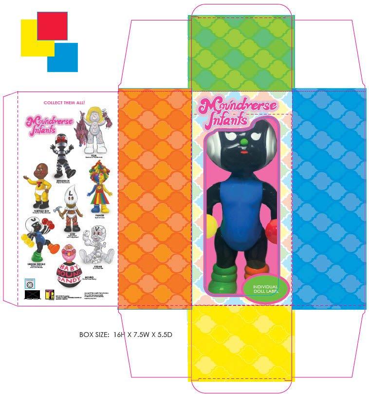 Moundverse Infants - Retro 60's Toy Packaging Design